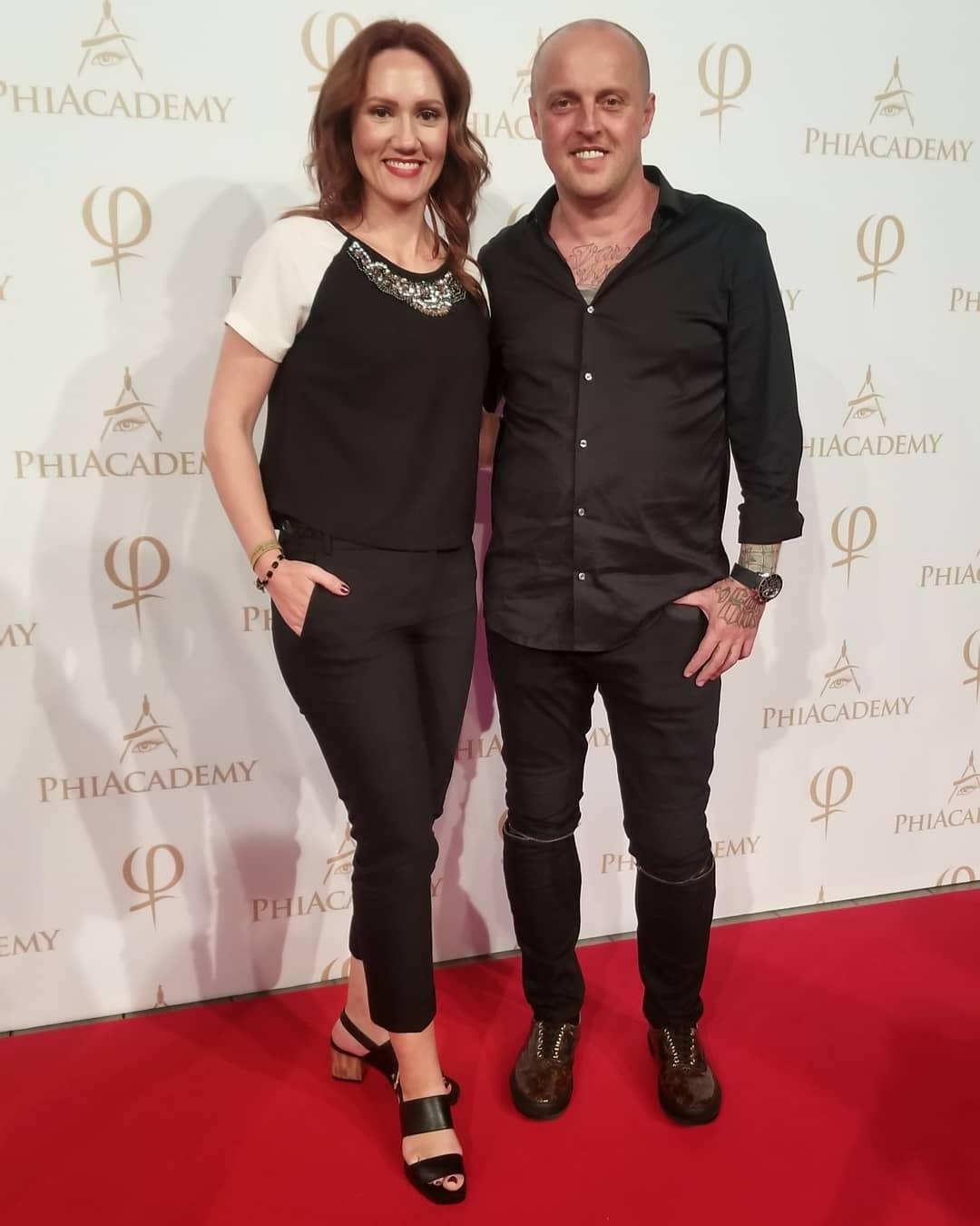Alesya with Sviatoslav Otchenash the founder of AcademyS
