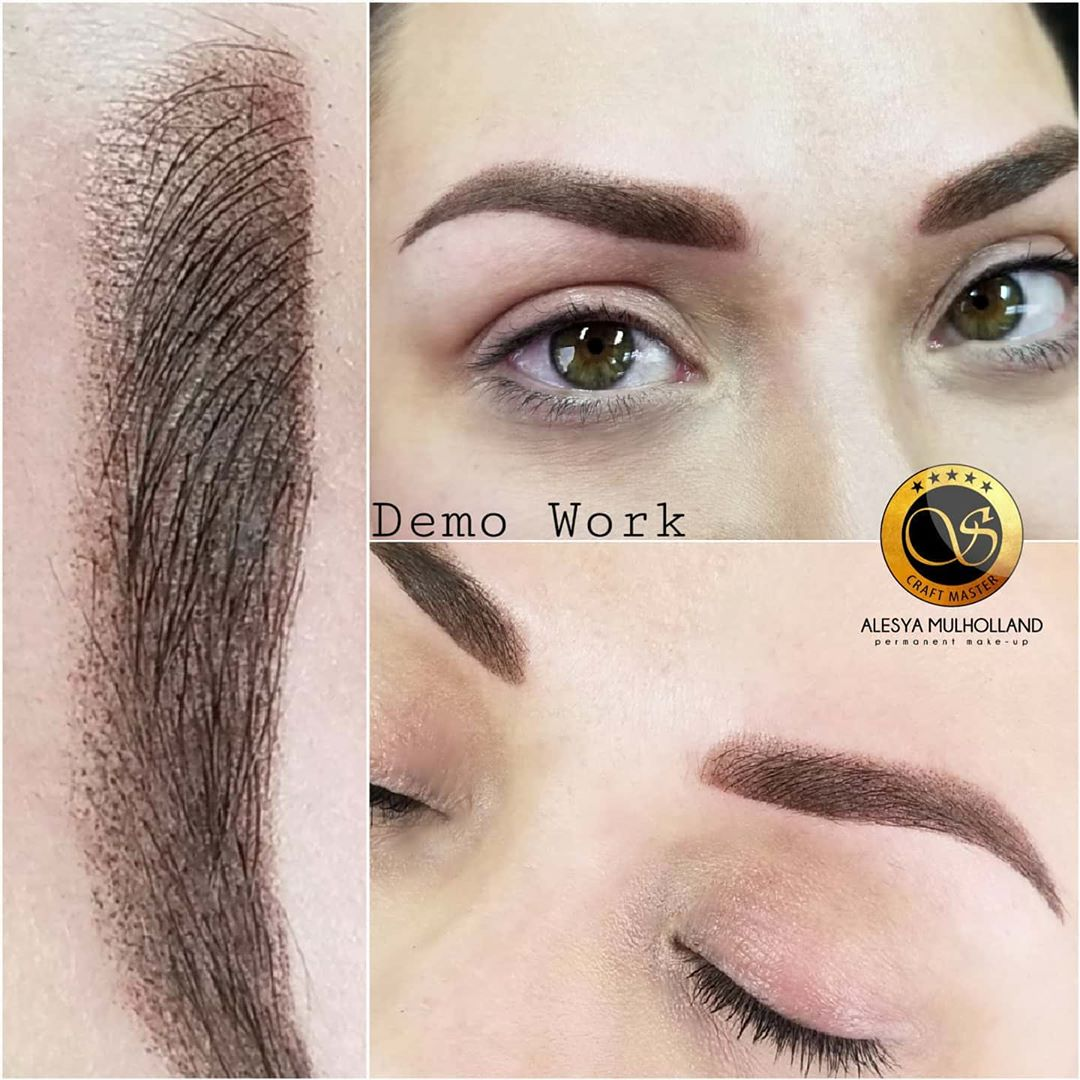 Ombre Powdered Eyebrow Permanent Makeup